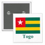 Bandera de Togo con nombre Pin