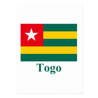 Bandera de Togo con nombre Tarjetas Postales