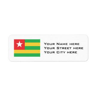 Bandera de Togo Etiqueta De Remitente