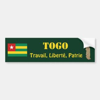Bandera de Togo + Pegatina para el parachoques del Pegatina Para Auto