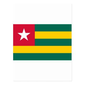Bandera de Togo Postales