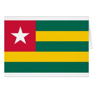 Bandera de Togo Tarjeta De Felicitación