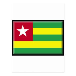 Bandera de Togo Tarjeta Postal