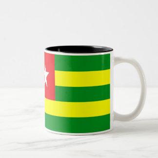Bandera de Togo Taza De Dos Tonos