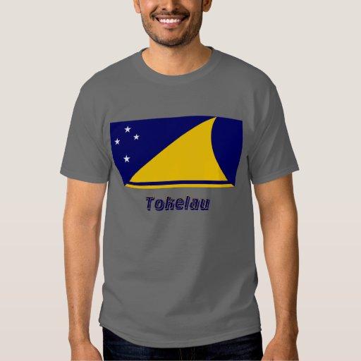 Bandera de Tokelau con nombre Camisas