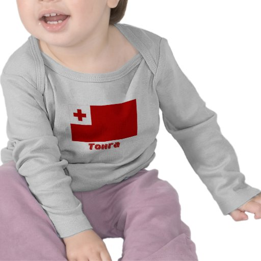 Bandera de Tonga con nombre en ruso Camiseta