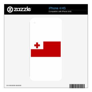 Bandera de Tonga iPhone 4S Calcomanía