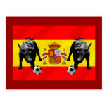 Bandera de Toro del futbol de Furia Roja del La de