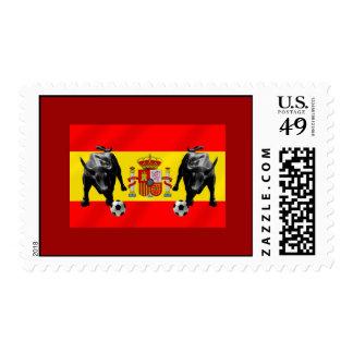 Bandera de Toro del futbol de Furia Roja del La de Franqueo