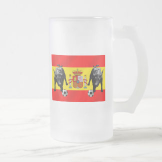 Bandera de Toro del futbol de Furia Roja del La de Taza De Cristal
