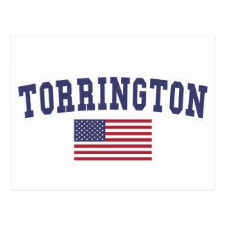 Bandera de Torrington los E.E.U.U. Tarjetas Postales