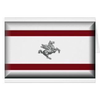 Bandera de Toscana (Italia) Tarjeton
