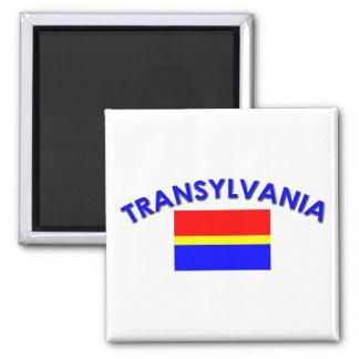 Bandera de Transilvania (w/inscription) Imán
