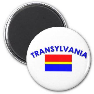 Bandera de Transilvania (w/inscription) Imán Para Frigorífico