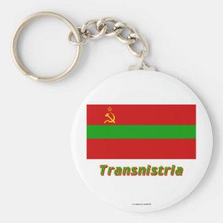 Bandera de Transnistria con nombre Llaveros