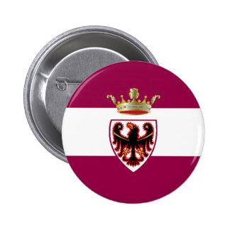 Bandera de Trentino (Italia) Pin Redondo 5 Cm