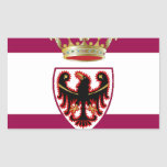Bandera de Trentino (Italia) Rectangular Pegatina