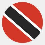 Bandera de Trinidad and Tobago Pegatina Redonda