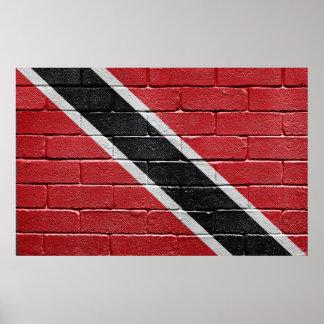 Bandera de Trinidad Trinidad y Tobago Posters