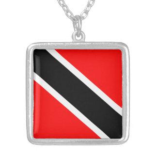 Bandera de Trinidad y de Trinidad y Tobago Colgante Cuadrado