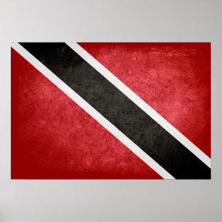 Bandera de Trinidad y de Trinidad y Tobago Poster