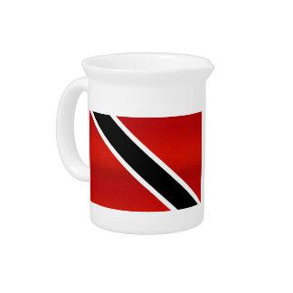 Bandera de Trinidad y Tobago pelada moderna Jarron