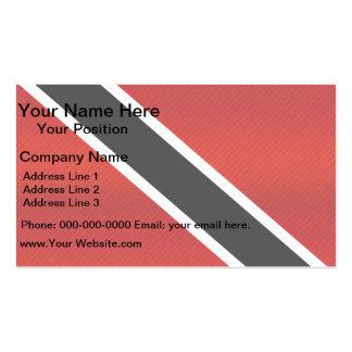 Bandera de Trinidad y Tobago pelada moderna Tarjeta De Visita