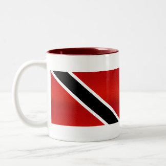 Bandera de Trinidad y Tobago pelada moderna Taza De Café