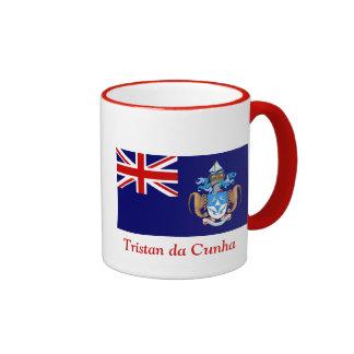 Bandera de Tristan DA Cunha Taza A Dos Colores