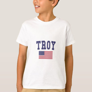 Bandera de Troy NY los E.E.U.U. Playera
