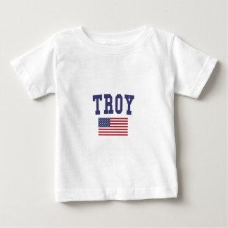 Bandera de Troy NY los E.E.U.U. Playera De Bebé