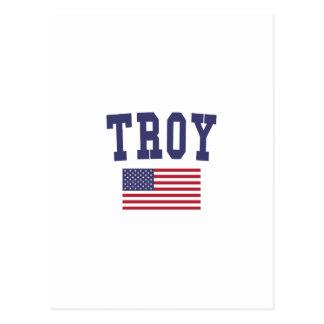 Bandera de Troy NY los E.E.U.U. Postal