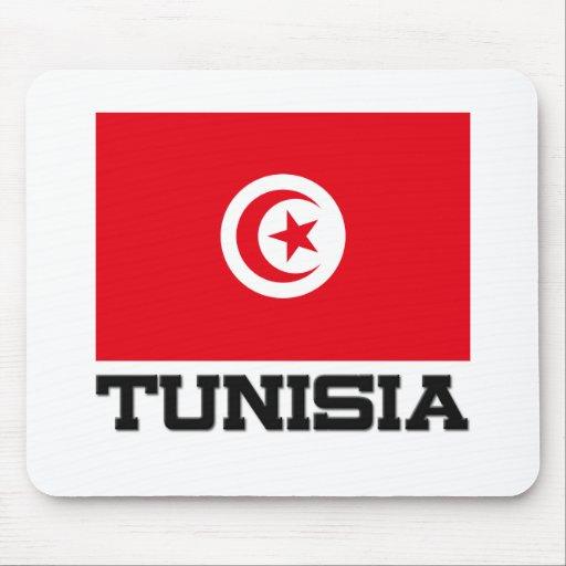 Bandera de Túnez Alfombrillas De Ratón