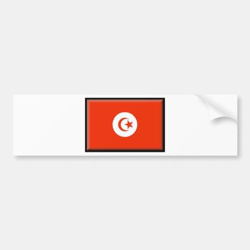 Bandera de Túnez Etiqueta De Parachoque