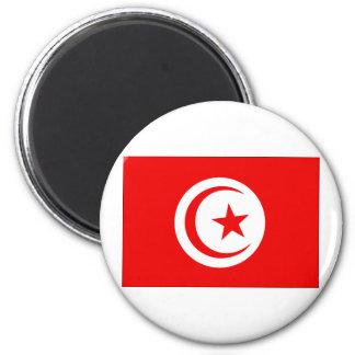Bandera de Túnez Imán Redondo 5 Cm