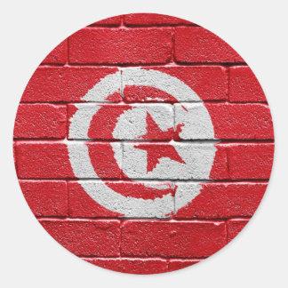 Bandera de Túnez Pegatinas Redondas
