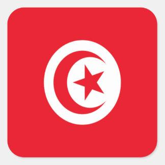 Bandera de Túnez Calcomanía Cuadrada