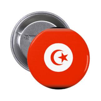 Bandera de Túnez Pin Redondo 5 Cm