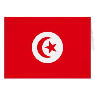Bandera de Túnez Tarjeta De Felicitación