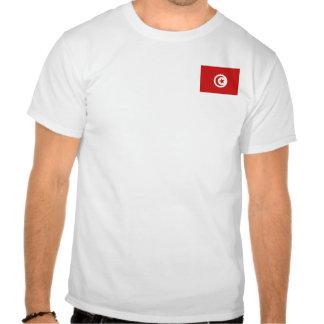 Bandera de Túnez y camiseta del mapa