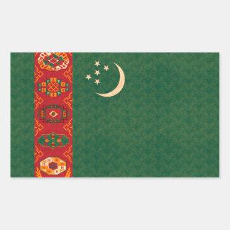 Bandera de turcomano del modelo del vintage rectangular pegatinas