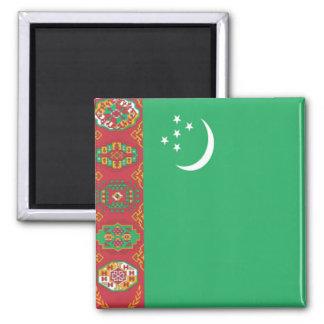 Bandera de Turkmenistán Imán Cuadrado