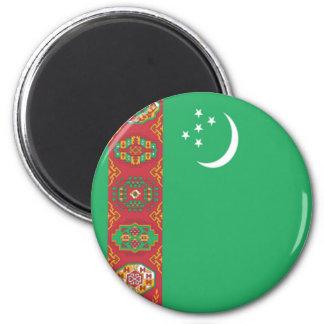 Bandera de Turkmenistán Imán Redondo 5 Cm