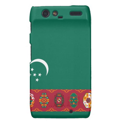 Bandera de Turkmenistán Motorola Droid RAZR Carcasas