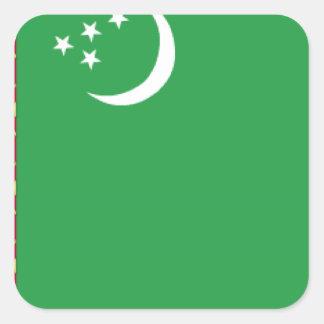 Bandera de Turkmenistán Colcomanias Cuadradas