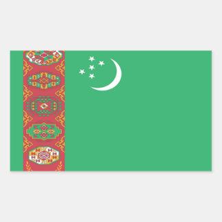 Bandera de Turkmenistán Pegatina Rectangular