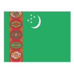 Bandera de Turkmenistán Postales