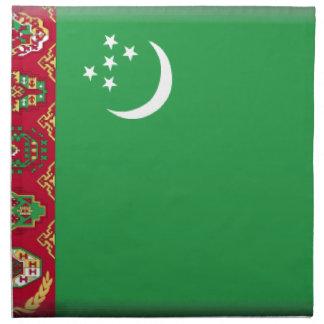 Bandera de Turkmenistán Servilleta Imprimida