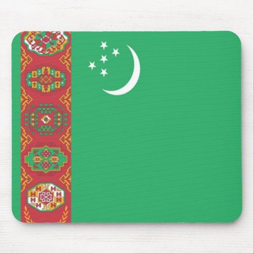 Bandera de Turkmenistán Tapetes De Ratón