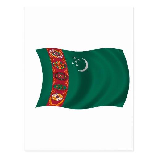 Bandera de Turkmenistán Tarjetas Postales